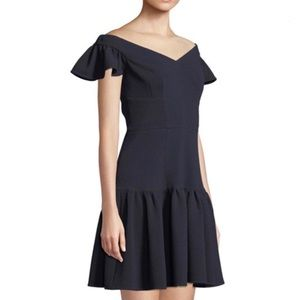 Rebecca Taylor Off Shoulder Textured Dress